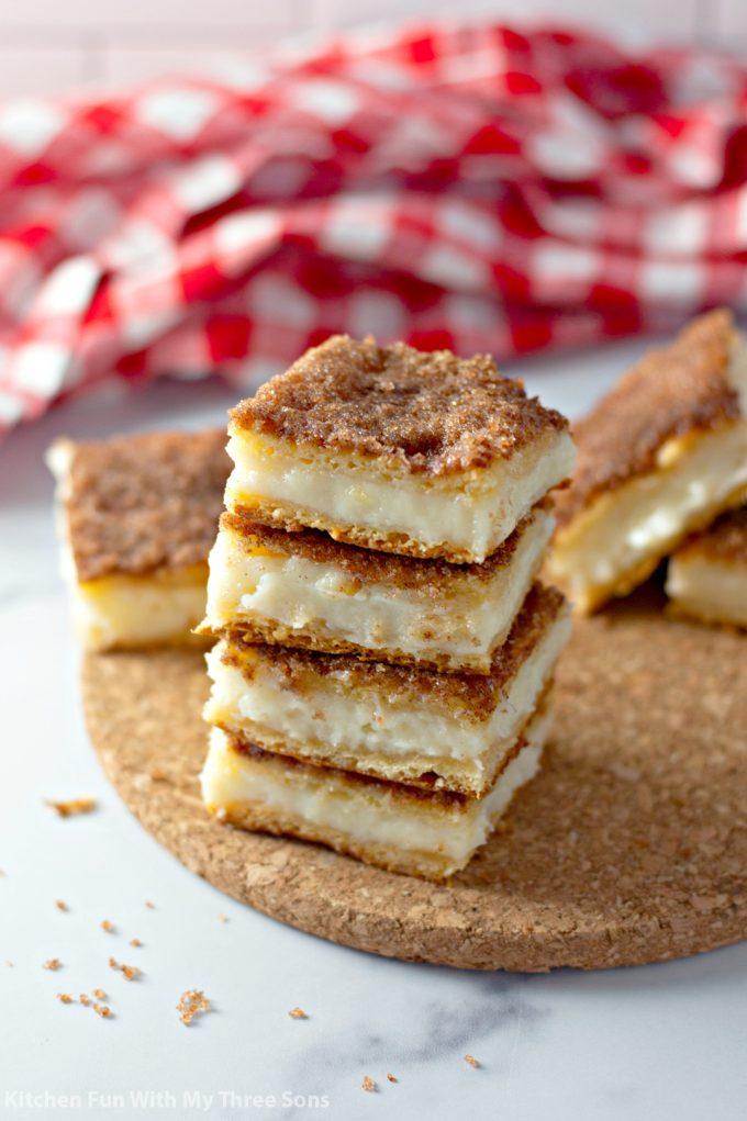 stacked sopapilla cheesecakes