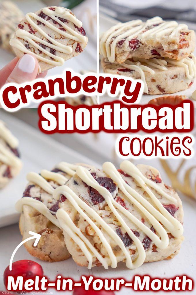Cranberry Shortbread Cookies