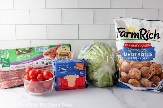 ingredients to make Bacon Cheeseburger Bites