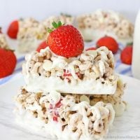 Berries and Cream Cereal Bars