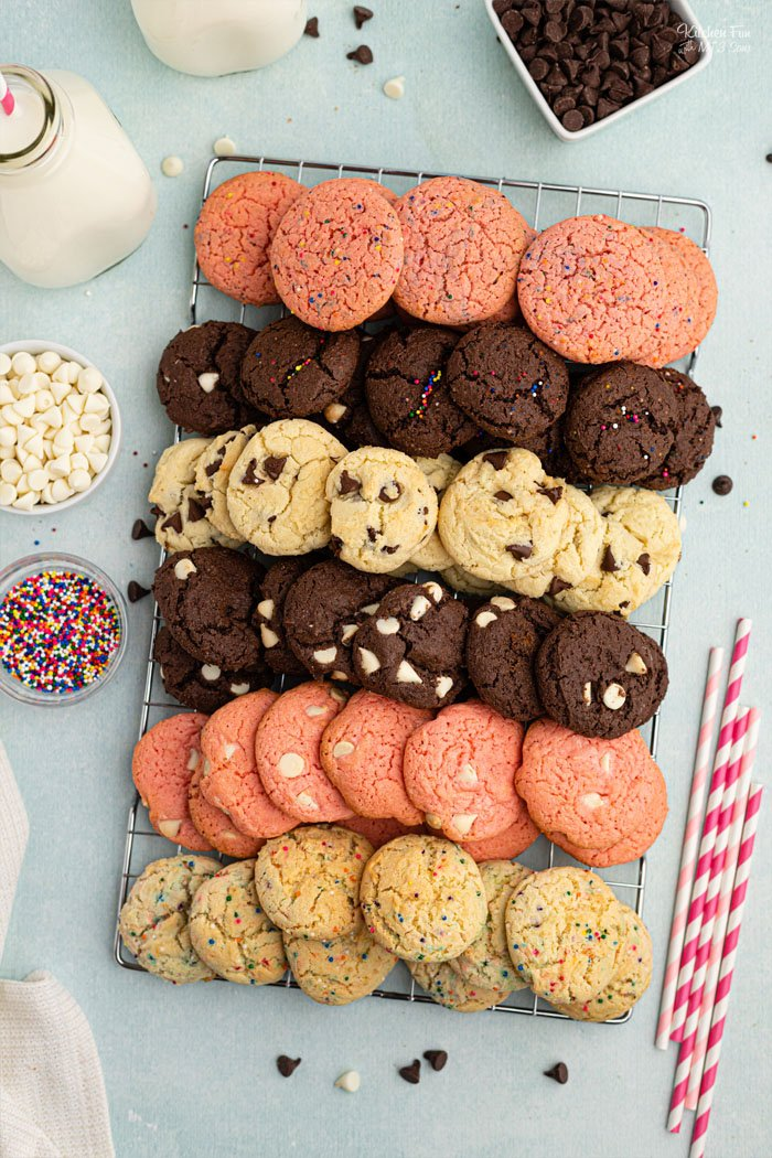 Cake Mix Cookies are absolutely my favorite way to bake cookies! By using a boxed cake mix as the base, the cookies come out soft and chewy every single time.