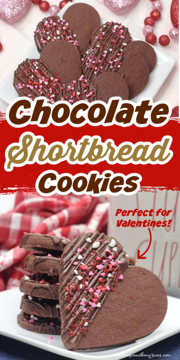 Heart-shaped Chocolate Shortbread Cookies