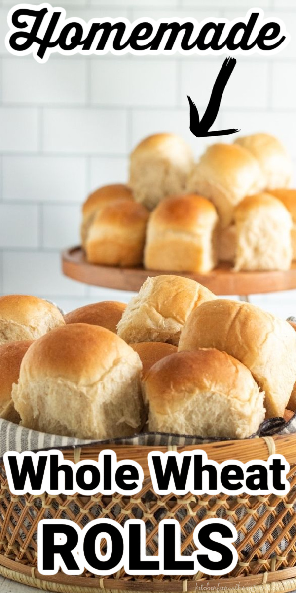 whole wheat rolls recipe pinterest image