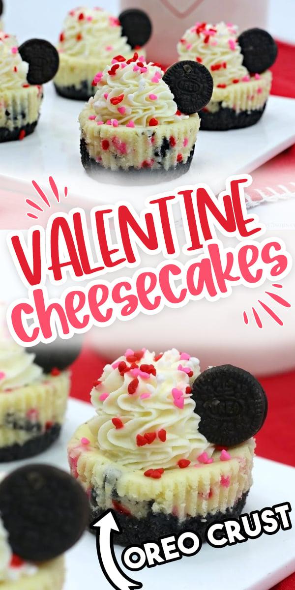Mini Valentine's Day Oreo Cheesecake