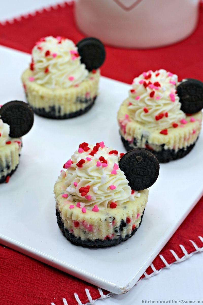 Valentine Cheesecake Bites
