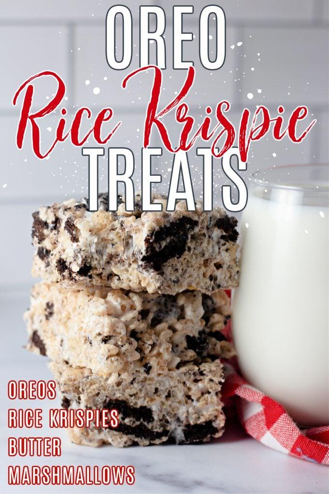 Oreo Rice Krispie Treats on Pinterest