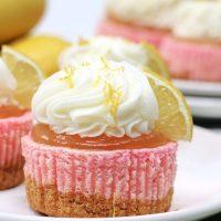 Pink Lemonade Cheesecake Bites