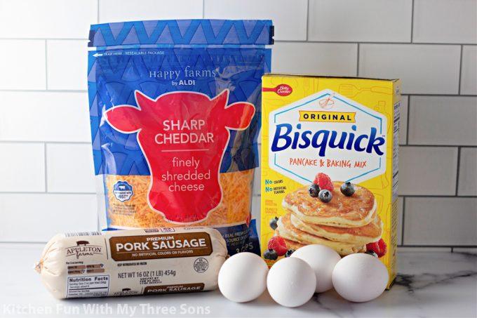 ingredients to make Sausage Breakfast Muffins