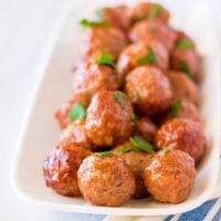 Slow Cooker BBQ Pineapple Meatballs
