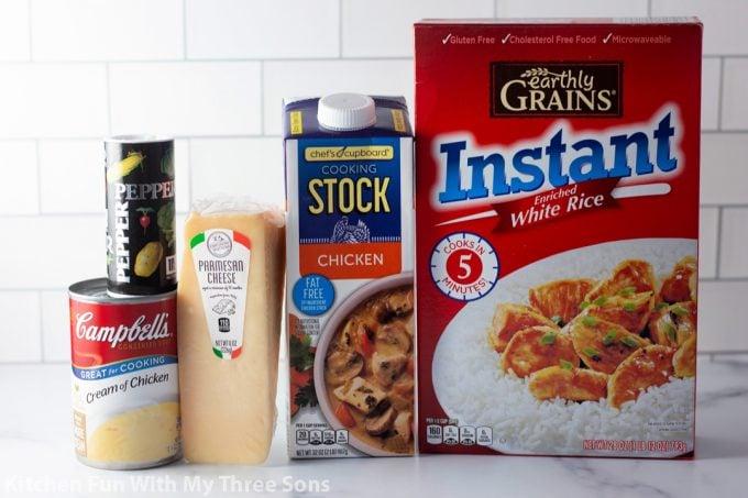ingredients to make 5 Ingredient Souper Rice