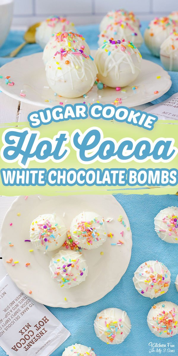 Sugar Cookie Hot Cocoa Bombs