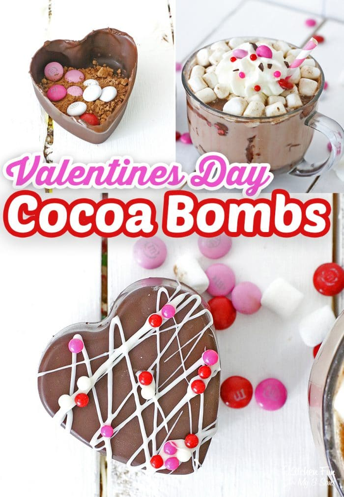 Valentine Hot Chocolate Bombs are a fun treat for the holiday. When you pour hot milk over it they melt and bubble and turn into hot cocoa.
