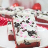 Red Velvet Cookie Bars