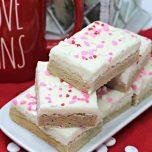 Valentine Snickerdoodle Cookie Bars