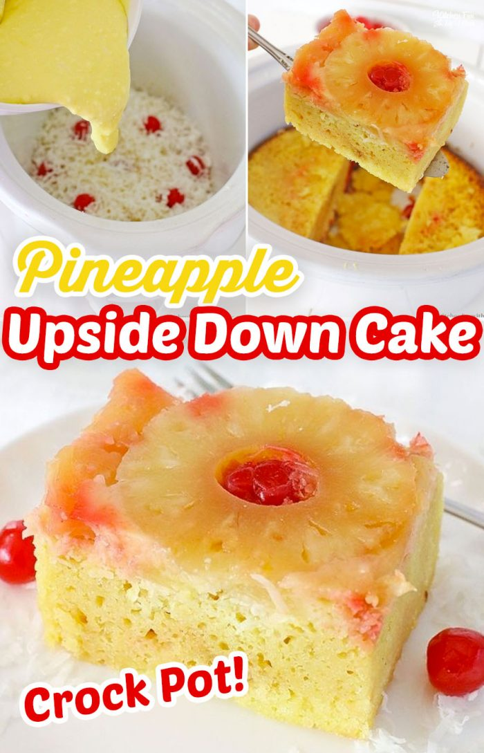 Crock-Pot Pineapple Upside Down Cake