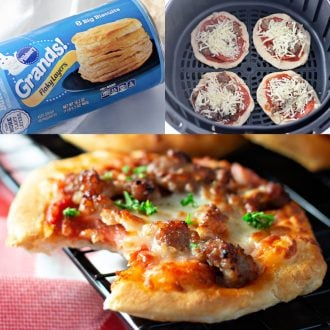 Mini Air Fryer Pizza