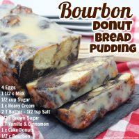 Bourbon Donut Bread Pudding