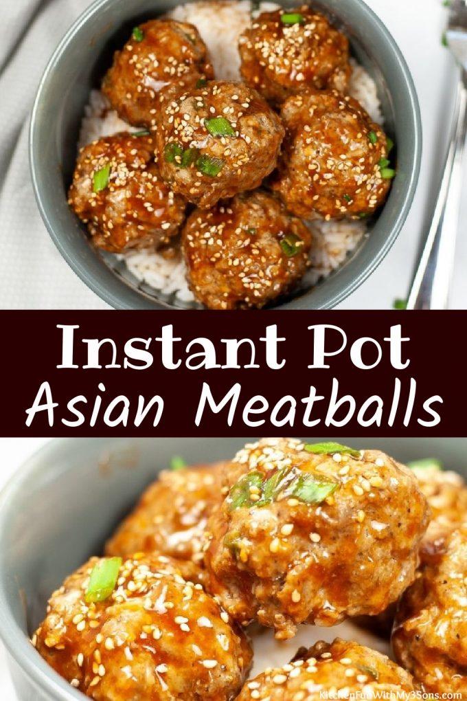 Instant Pot Asian Meatballs