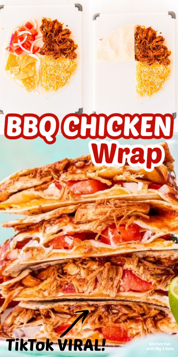 BBQ Chicken Quesadilla Wrap TikTok Viral Recipe