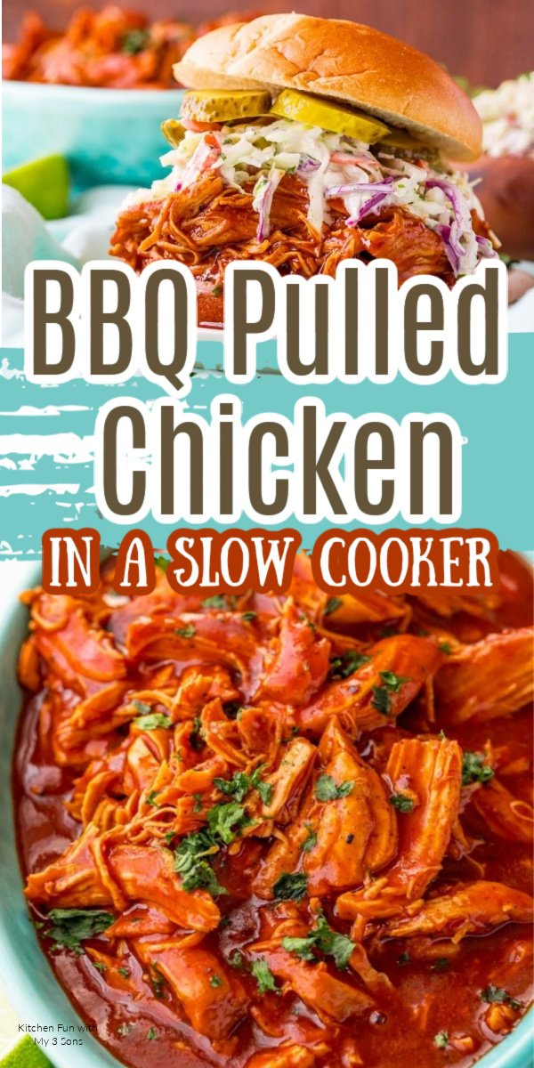 Mouthwatering BBQ Pulled Chicken made in a slow cooker