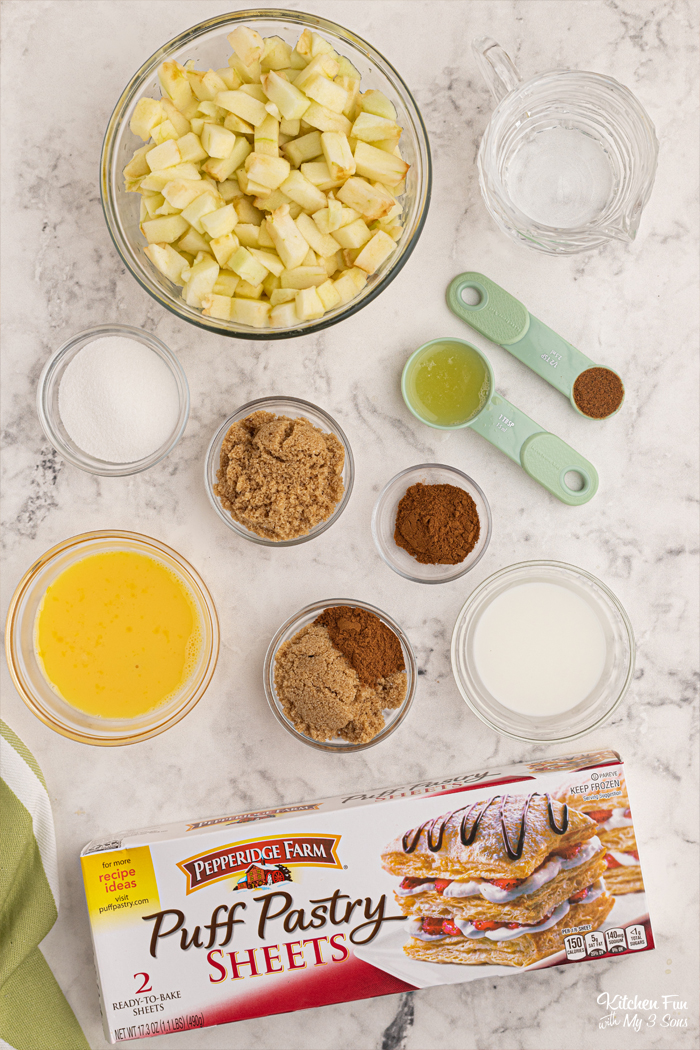 Ingredients for Apple Pies