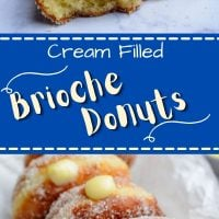 Brioche Cream Filled Donuts