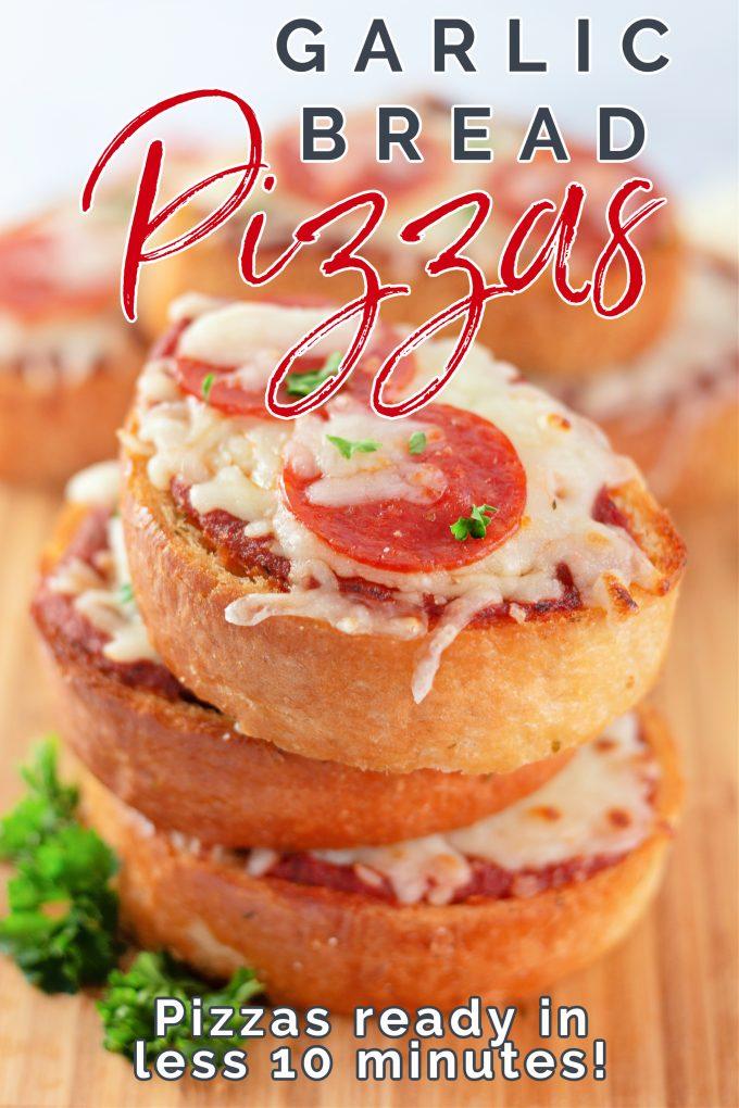 Garlic Bread Pizzas on Pinterest.