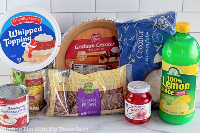 ingredients to make Easy Millionaire Pie Recipe.
