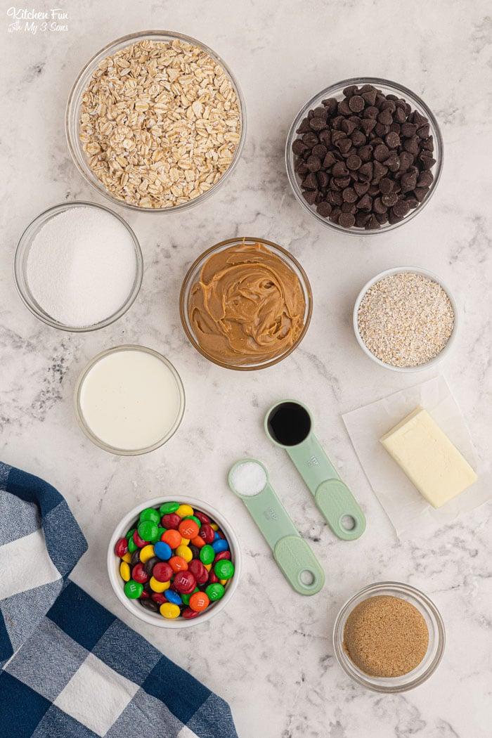 Monster Cookie Bars Ingredients