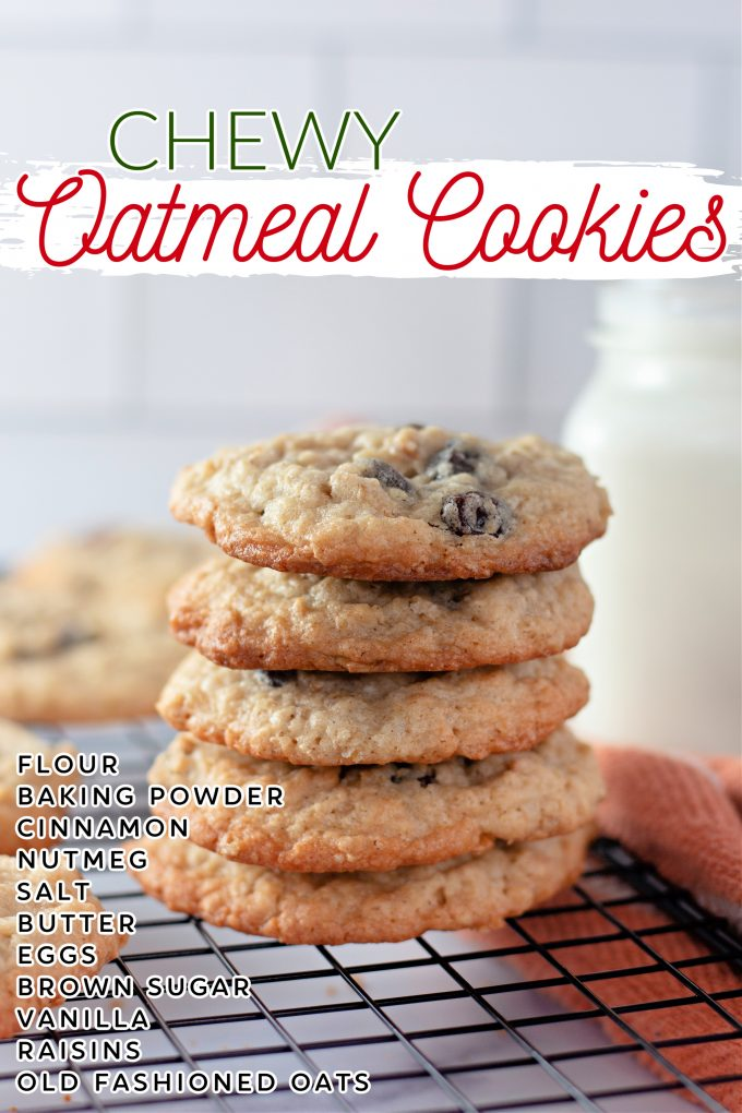Chewy Oatmeal Raisin Cookies on Pinterest.