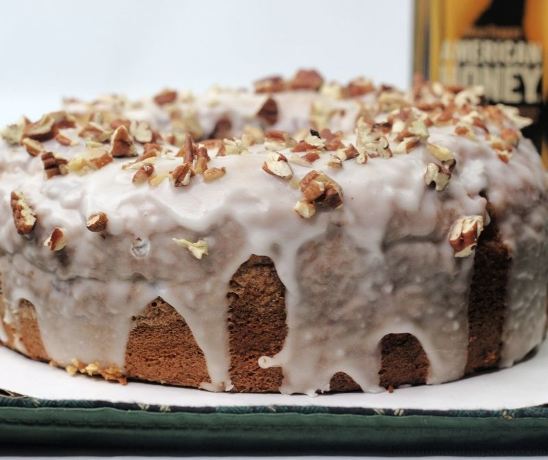 The whole Old Fashioned Whiskey Bundt Cake.