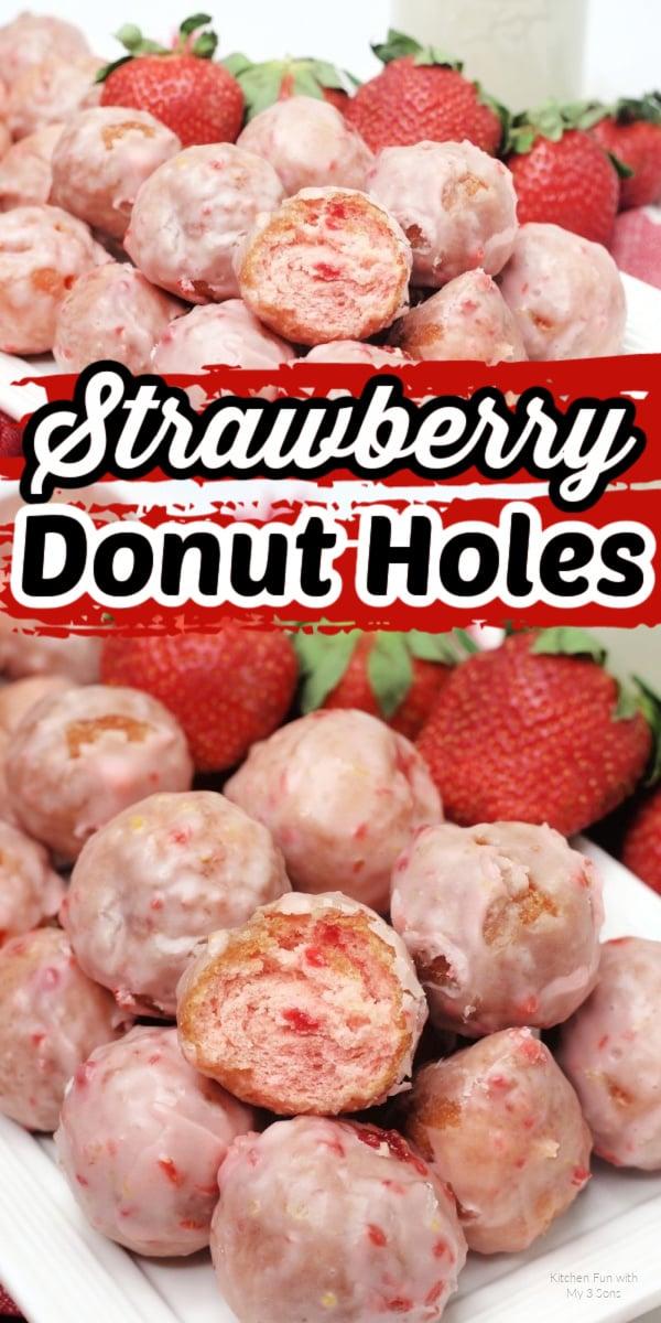 Homemade Strawberry Donut Holes