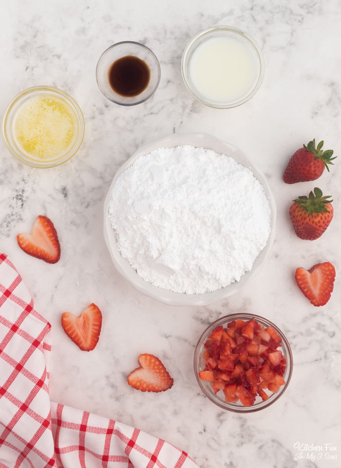 Strawberry Glaze Ingredients