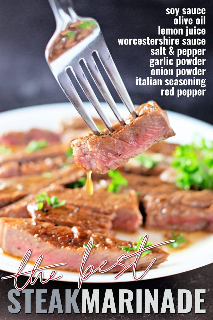 The Best Steak Marinade on Pinterest.