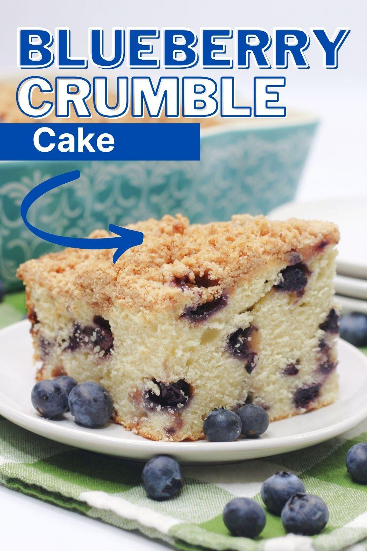 blueberry crumble cake Pinterest image