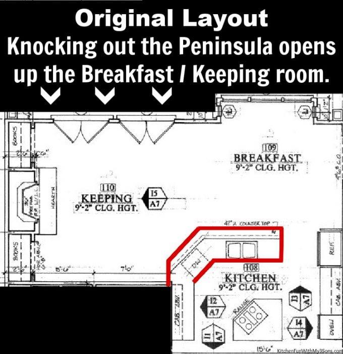 Original Kitchen Layout