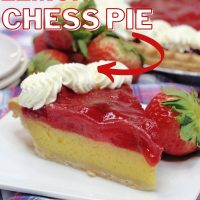 strawberry lemon chess pie pinterest image