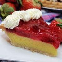 Strawberry Lemon Easy Chess Pie