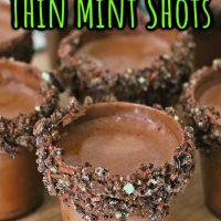 Girl Scout Thin Mint Shots