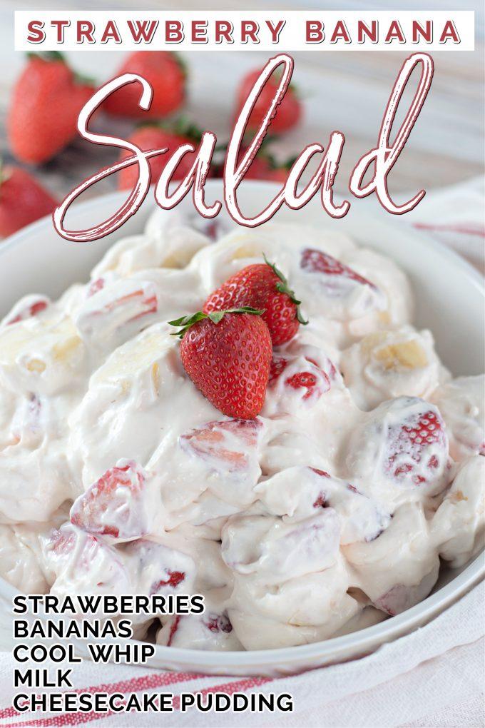 Creamy Strawberry Banana Salad on Pinterest.