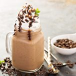 How to make a Starbucks CopyCat Frappuccino right at home with just a few ingredients. Plus, a boozy Bailey's version, too.