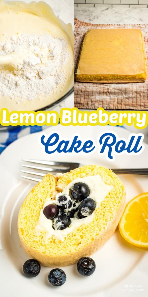 How to Make a Lemon Blueberry Cake Roll