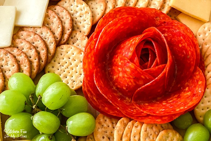 Meat Flowers - Meat and Cheese Charcuterie Board