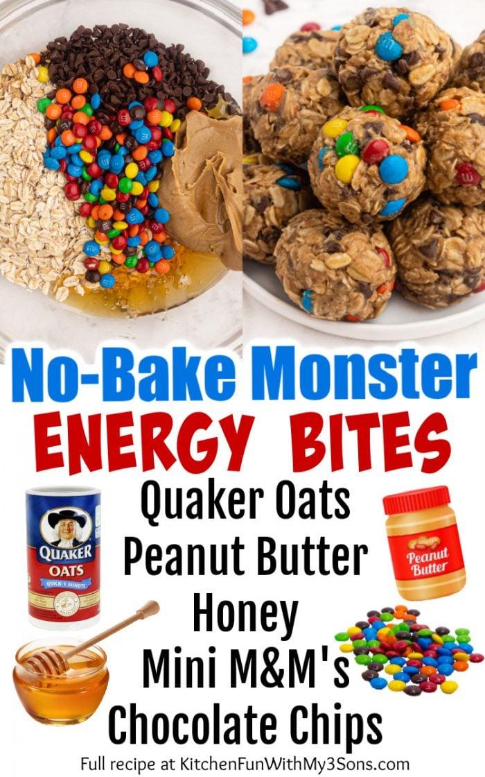 No-Bake Monster Energy Bites