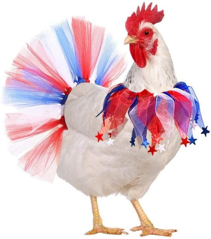 Patriotic Chicken Tutu
