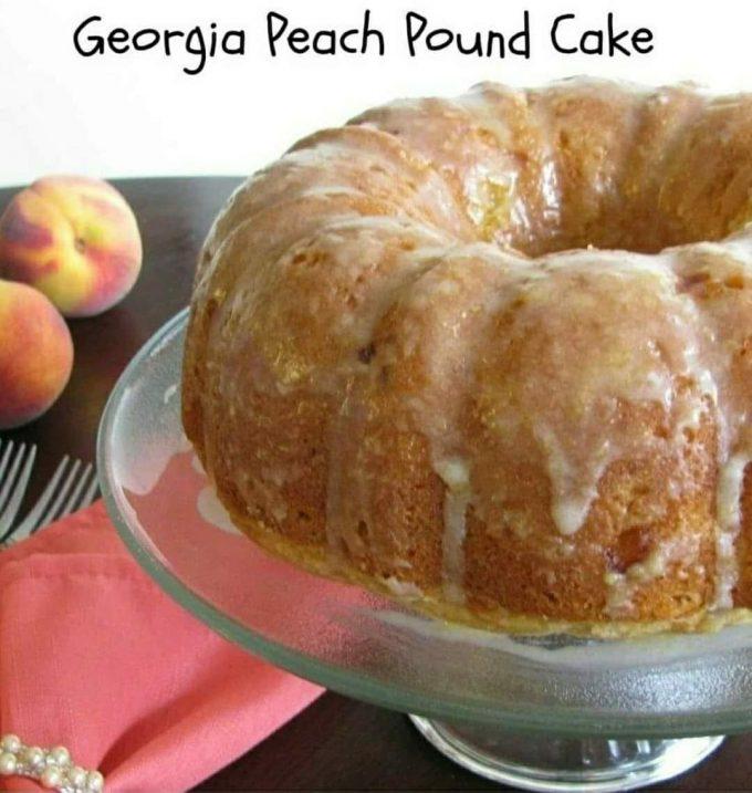 Georgia Peach Pound Cake
