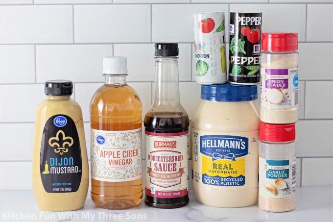 ingredients to make Alabama White BBQ Sauce.