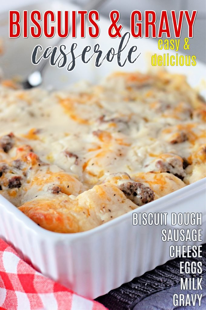 Biscuits and Gravy Breakfast Casserole on Pinterest.