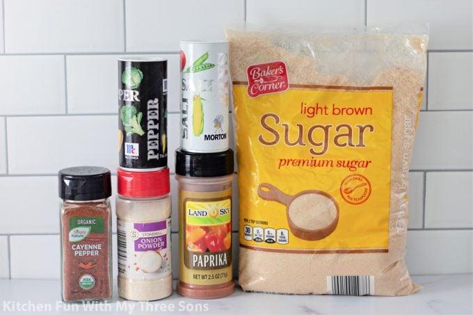 ingredients to make Chicken Spice Rub.