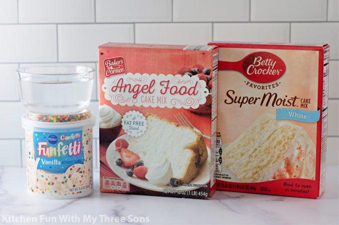 ingredients to make 3-2-1 Microwave Mug Cake.